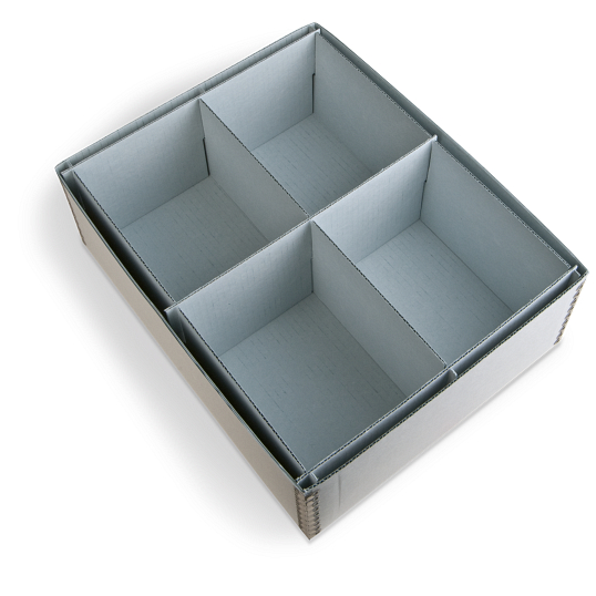 Gaylord Archival® 4-Compartment Blue Artifact Tray
