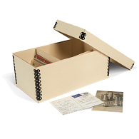 Gaylord Archival® Light Tan B-flute Postcard Box