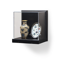 Gaylord Archival® Little Gem Original Black Wall-Mount Exhibit Case