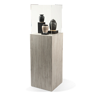 Gaylord Archival® Jewell™ Laminate Rectangular Pedestal Exhibit Case