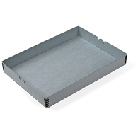 "Gaylord Archival® Blue E-flute 9 x 12 3/8"" Internal Tray for Modular Box System"