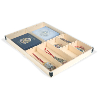 Gaylord Archival® Light Tan E-flute Clear Lid Modular Box System