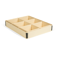 Gaylord Archival® 6-Compartment Light Tan Artifact Tray