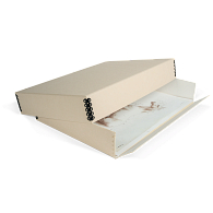 Gaylord Archival® Tan Barrier Board Drop-Front Oversize Print Box
