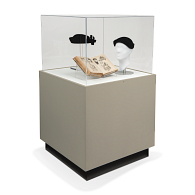 Gaylord Archival® Sapphire™ Square Laminate Pedestal Case with Humidity Control