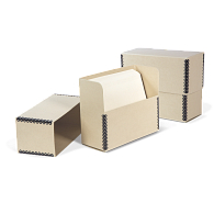 Gaylord Archival® Tan Barrier Board Separate Lid Legal-Size Document Case