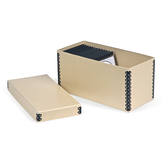 Gaylord Archival® Tan Barrier Board Shallow Lid CD Box