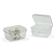 Gaylord Archival® Clear PET Clamshell Flat Lid Boxes (100-Pack)