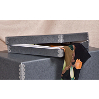 Gaylord Archival® Blue/Grey Barrier Board Scarf Box