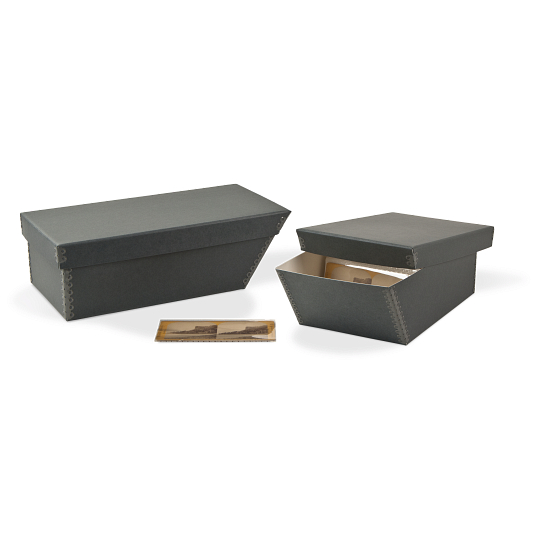 Gaylord Archival® Blue/Grey Barrier Board Stereo Card Box