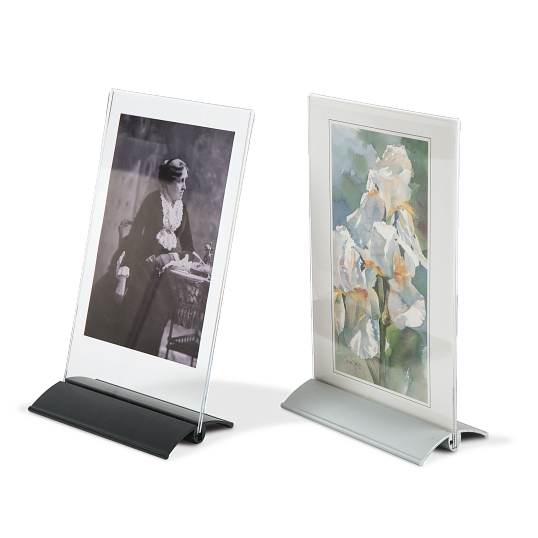 AeroLinea® Acrylic Double-Sided Tabletop Sign Holder