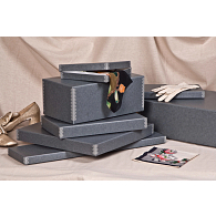 Gaylord Archival® Blue/Grey Barrier Board Boots Box