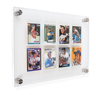 Gaylord Archival® League Trading Card Wall Display for 8 Cards