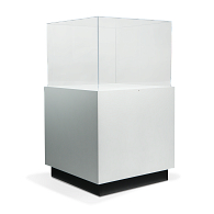 Gaylord Archival® Sapphire™ Rectangular Paintable Pedestal Case with Humidity Control