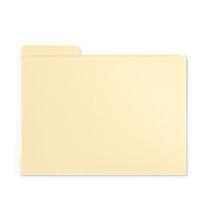 Gaylord Archival® Classic Third-Cut Tab Letter Size File Folders (25-Pack)