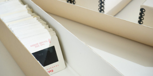 slides in box