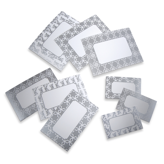 Gaylord Archival® Morgan Series Metallic Silver Label Inserts (9-Pack)