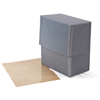 Gaylord Archival® Blue/Grey Barrier Board Flip-Top Deed Box