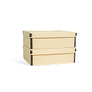 4 3/4H x 11 3/4W x 14 1/4L - Fits 2 (2 levels of 1) in 1 Record Storage Carton. Shown in Light Tan. All boxes sold separately.