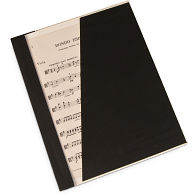 "Gaylord Archival® Classic™ 1/4"" Double Cloth Spine Sew or Staple Music Binder with Clear Cover & Diagonal Pocket"