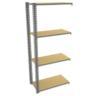 "Tennsco Z-Line Boltless 36""W Shelving Adder Unit with Particle Board Shelves"