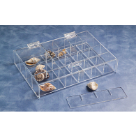 Small Adjustable Acrylic Specimen Tray with Lid