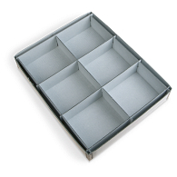 Gaylord Archival® 6-Compartment Blue Artifact Tray