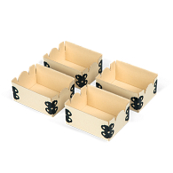 "Gaylord Archival® Light Tan E-flute 2 1/8 x 3"" Internal Trays for Modular Box System (4-Pack)"