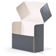 Gaylord Archival® Blue/Grey Barrier Board Flip-Top Document Case