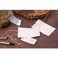 Gaylord Archival® Tyvek® Prestrung Artifact Tags (100-Pack)